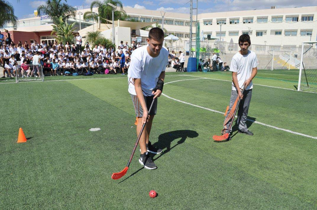 Boys Playing Floorball
