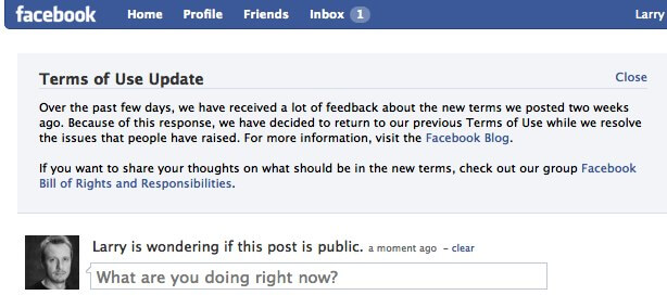 Facebook Terms of Use