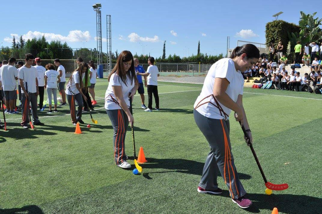 Girls Playing Floorball