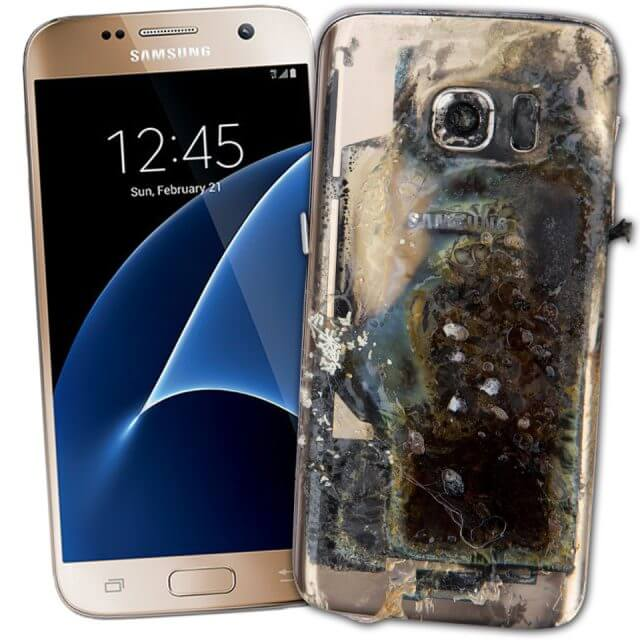 Burning Samsung Phone - Alvexo
