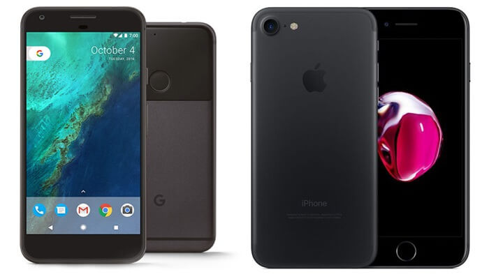 Google Pixel vs Apple Iphone 7 - Alvexo