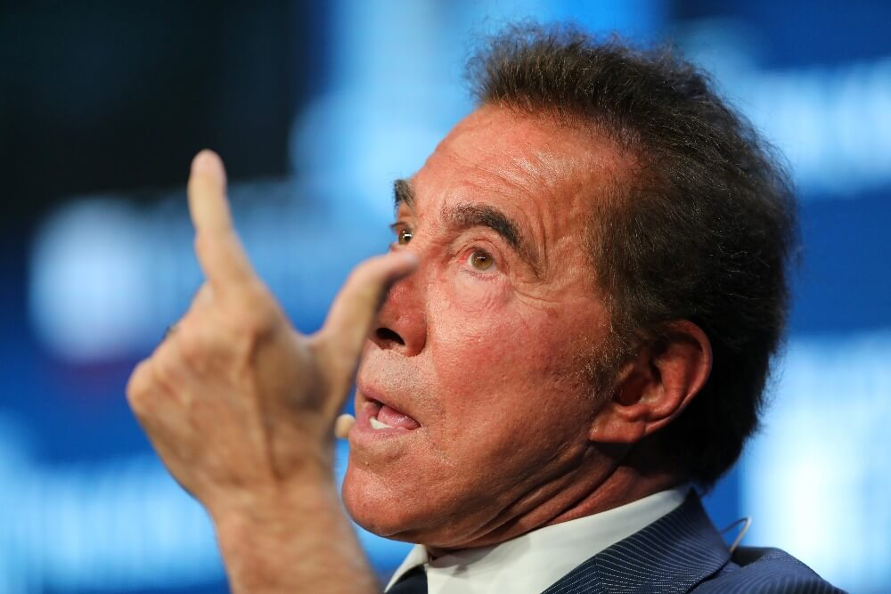 Steve Wynn Chairman and CEO of Wynn Resorts speaks during the Milken Institute Global Conference in Beverly Hills