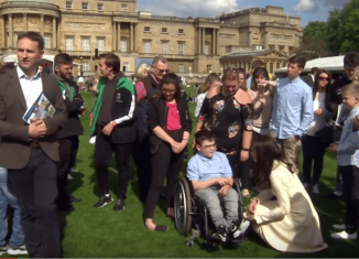 Royals with kids at Buckingham Palace