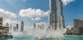 Dubai's Burj Khalifa and the fountain