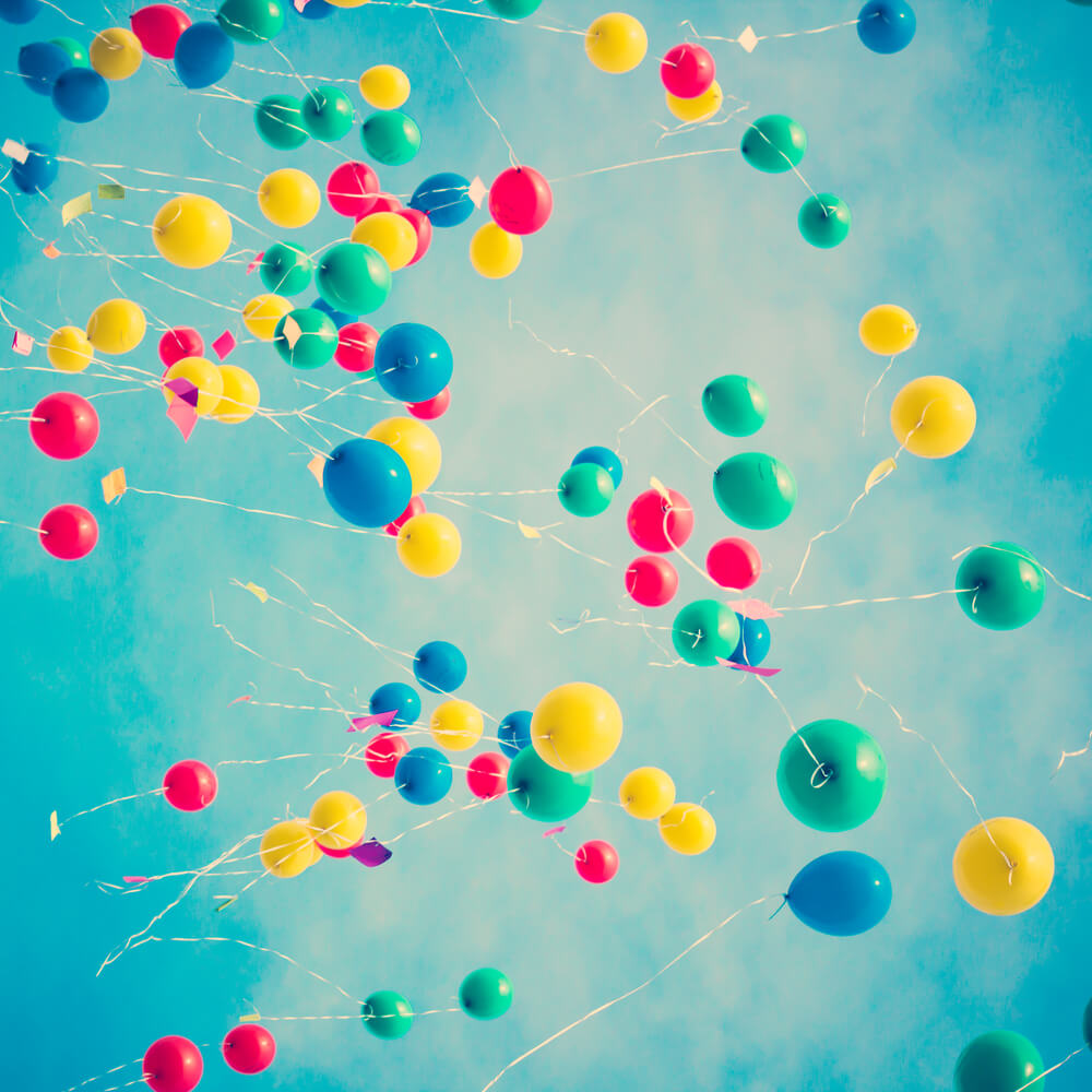 Colorful balloons App facebook