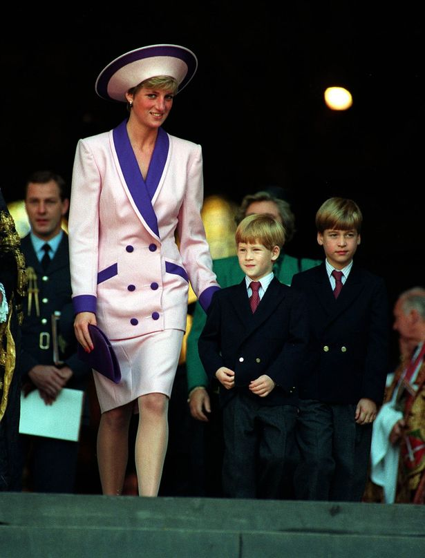 Diana and the young princes