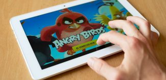 Angry Birds Being Played on the I-Pad
