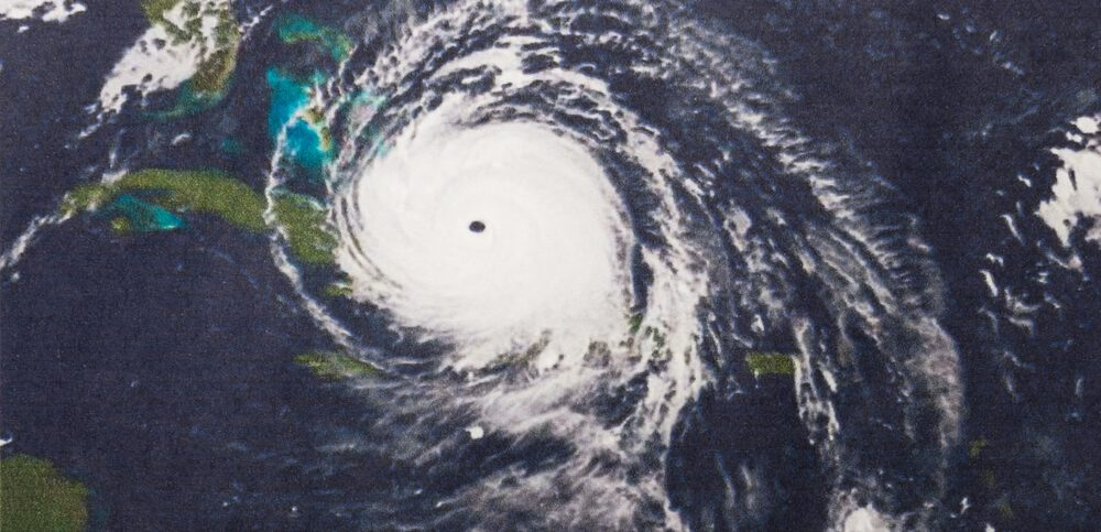 hurricane irma eye of the storm over florida