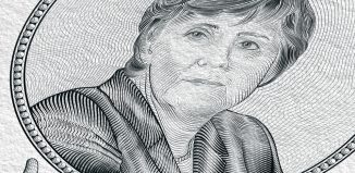 portrait of The current Federal Chancellor of the Federal Republic of Germany Angela Merkel