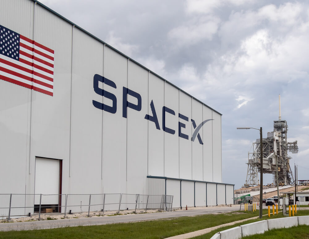 Spacex building with Launch pad 39 at Cape Cana
