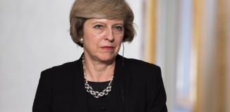 The Prime Minister of United Kingdom Theresa May in Press conference