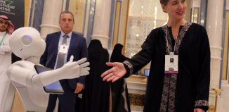 Aurore Chiquot of SoftBank Robotics Europe in the Future Investment Initiative conference in Riyadh