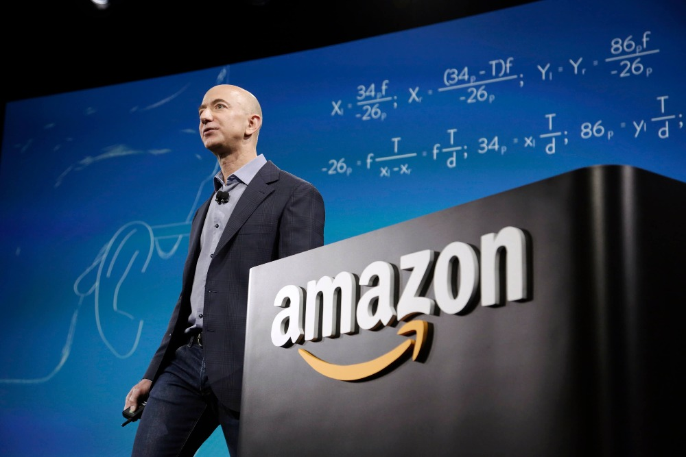 Amazon CEO Bezos discusses his companys new Fire smartphone in Seattle Washington