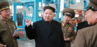 North Korean leader Kim Jong Un gave field guidance to the machine plant managed by Jon Tong Ryol