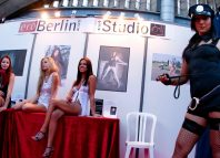 Adult movie actresses pose during the Erotica Dream exhibition in Nice1