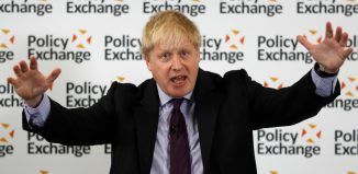 Britains Foreign Secretary Boris Johnson delivers a speech on Brexit at the Polixy Exchange in central London