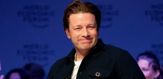 Chef Jamie Oliver attends the annual meeting of the World Economic Forum (WEF) in Davos