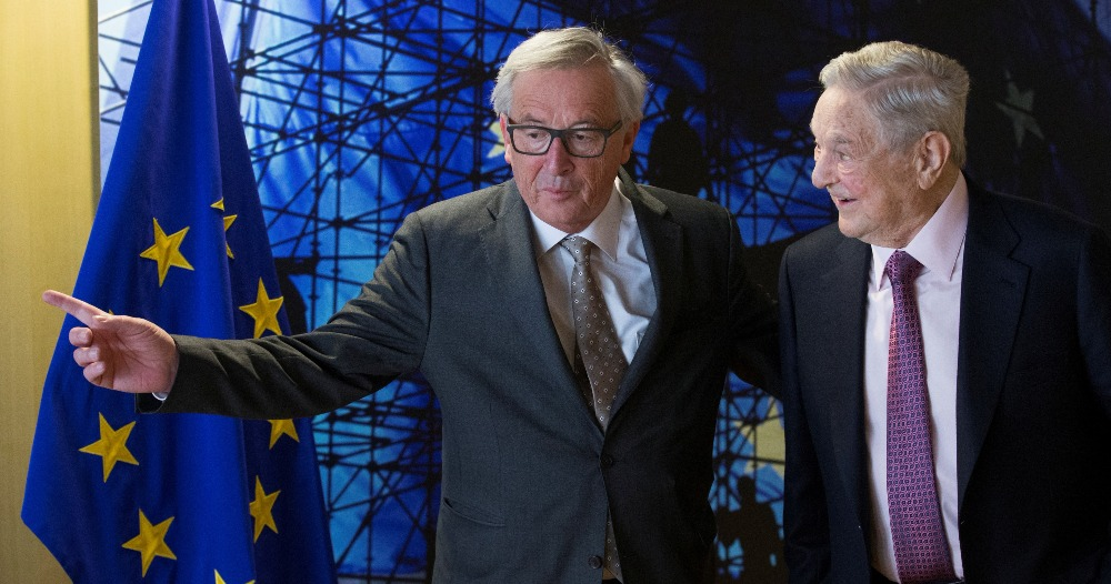EU Commission President Jean-Claude Juncker meets US financier George Soros