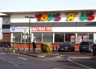 Exterior of the Toys R Us superstore. Toys R Us is an international chain of toy shops