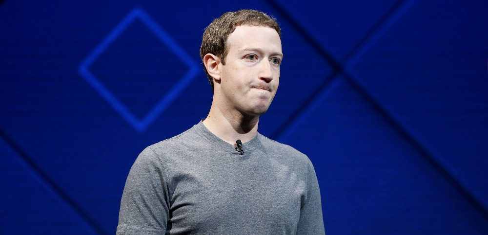 Facebook CEO Mark Zuckerberg on stage during the F8 developers conference in San Jose California, 2017.