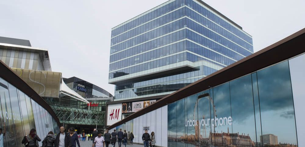 View of Westfield Stratford City Europe's largest urban shopping and leisure destination, with over 65 restaurants and over 250 shops