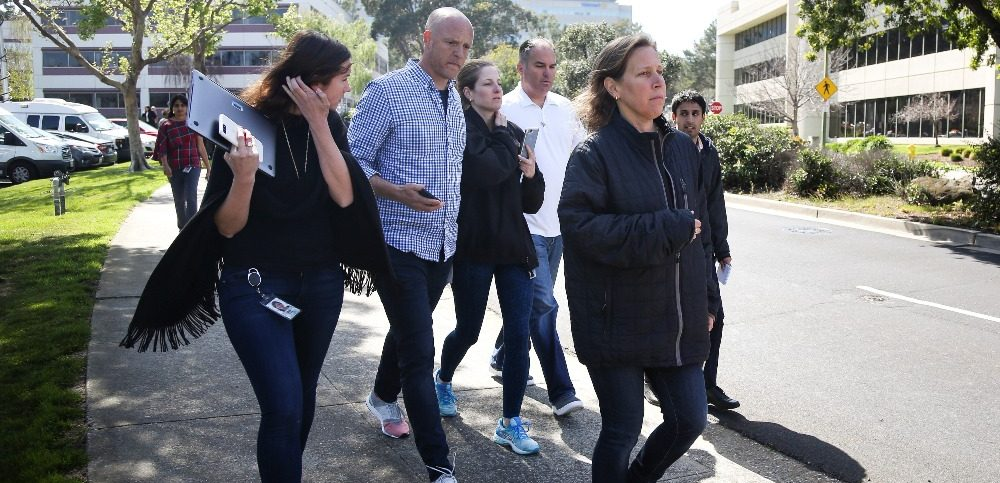 YouTube CEO Susan Wojcicki is seen near Youtube headquarters following an active shooter situation in San Bruno California