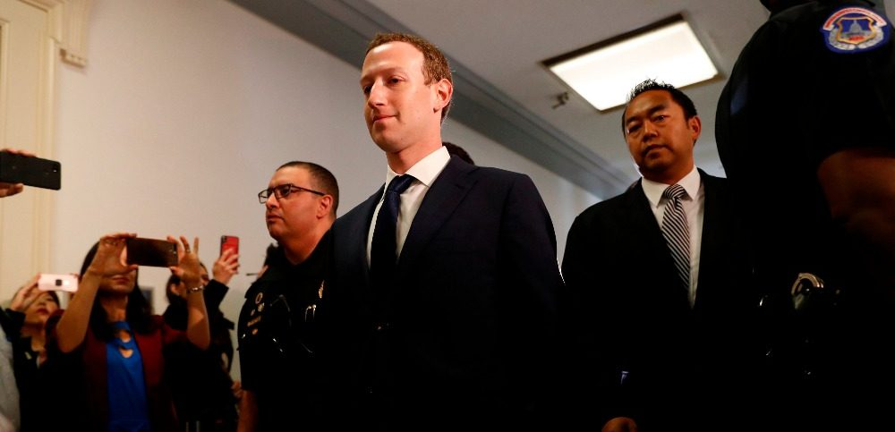 Facebook CEO Zuckerberg arrives to testify before House Energy and Commerce Committee hearing on Capitol Hill in Washington