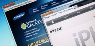 Apple Iphones website and Samsung Galaxys webiste