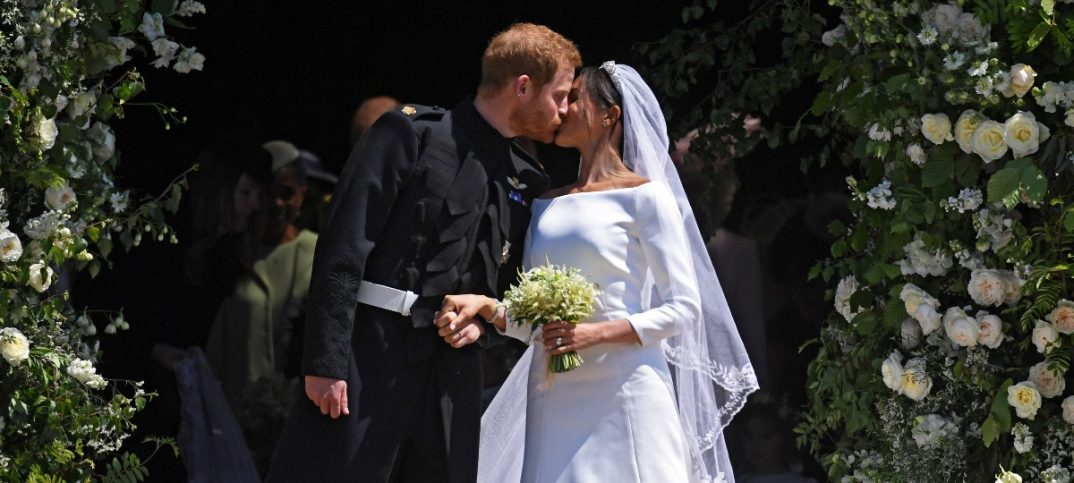 Britains Prince Harry Duke of Sussex and Meghan Duchess of Sussex exit St Georges Chapel in Windsor Castle after their royal wedding ceremony in Windsor Britain