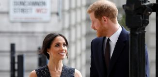 Britains Prince Harry and his fiancee Meghan Markle