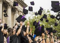 graduation ceremony at Portsmouth University on July 20, 2015 in Portsmouth, UK