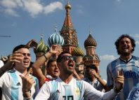 Argentina fans in Moscow during world cup 2018