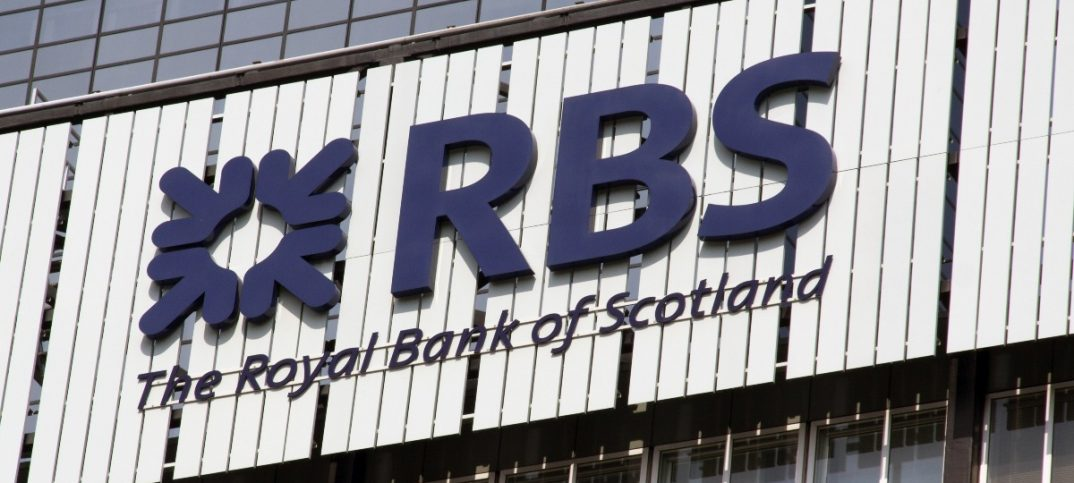 The Royal Bank of Scotland or simply RBS building sign