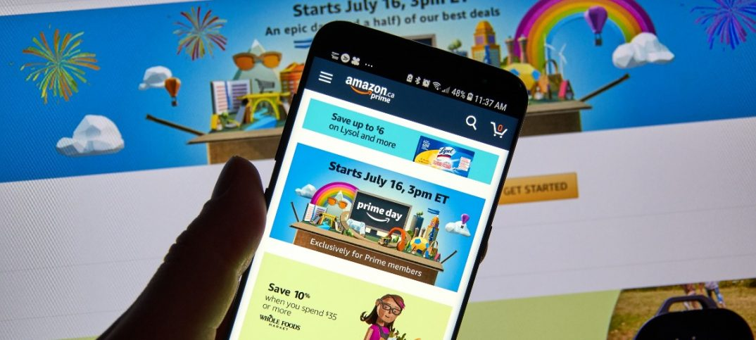 Amazon prime day on Amazon android application