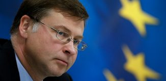 "Valdis Dombrovskis: ""U.K. should not take its access to the (EU) market for granted"". Image: REUTERS/Costas Baltas"
