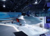 Britain's defence minister, Gavin Wiliamson, unveiled a model of a new jet fighter, called 'Tempest' - Image: REUTERS/Peter Nicholls