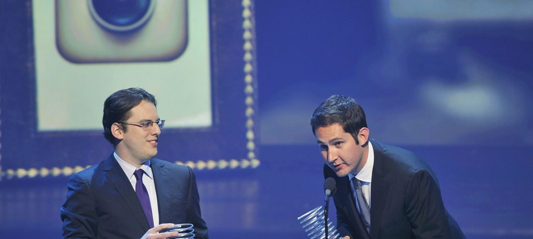 Instagram founders Mike Krieger (L) and Kevin Systrom: