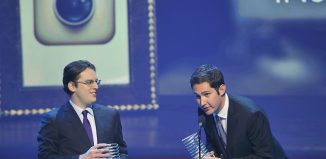 """Instagram founders Mike Krieger (L) and Kevin Systrom: """"We're now ready for our next chapter."""" Image: REUTERS/Stephen Chernin"""