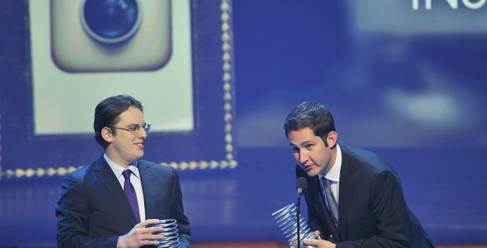 "Instagram founders Mike Krieger (L) and Kevin Systrom: ""We're now ready for our next chapter."" Image: REUTERS/Stephen Chernin"