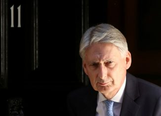 Britain's Chancellor of the Exchequer Philip Hammond leaves 11 Downing Street in London. Image: REUTERS/Simon Dawson