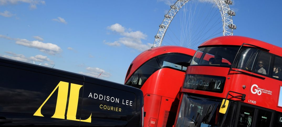 An Addison Lee delivery van drives through central London, Britain (image: REUTERS/Toby Melville)