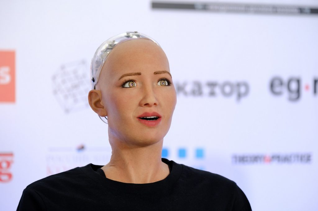 Sophia the emotional robot. Trying to achieve Artificial General Intelligence - AGI. (image:Shutterstock.com)